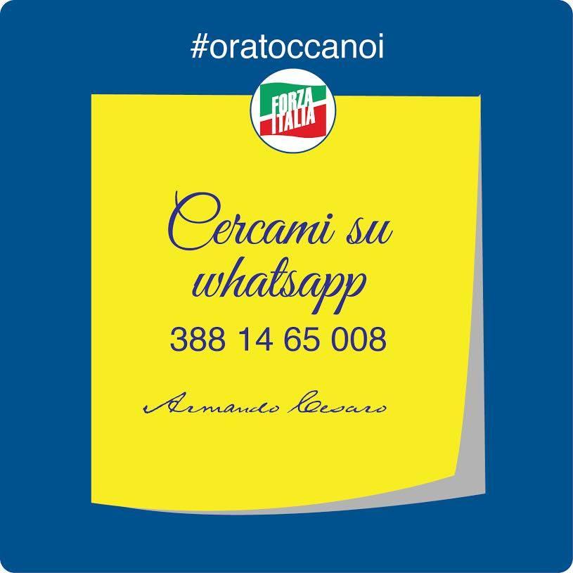 Restiamo sempre in contatto su WhatsApp #oratoccanoi