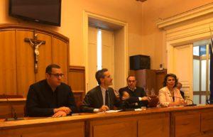foto armando cesaro conferenza si Rummo a Palazzo Mosti