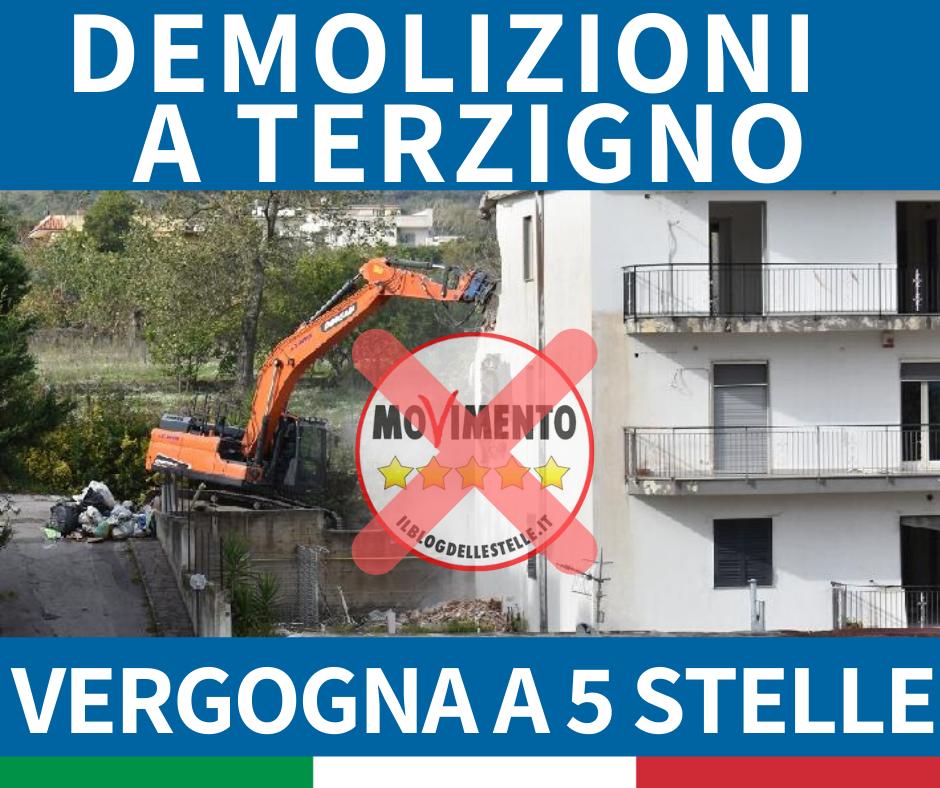 DEMOLIZIONI TERZIGNO: INTERROGAZIONE 5 STELLE? SI VERGOGNASSERO, LA RITIRINO E CHIEDANO SCUSA!